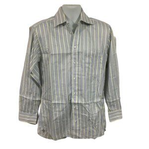 Burberry London Button Up Striped Dress Shirt